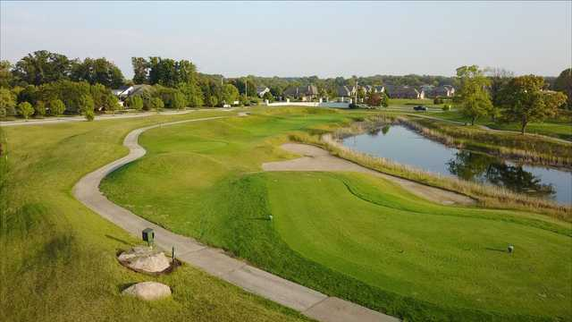 A view of tee #11 at Hickory Stick Golf Club.