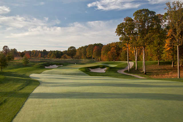 A view from the 7th fairway at TPC Potomac from Avenel Farm.