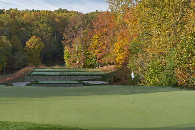 A view of hole #12 from TPC Potomac at Avenel Farm.