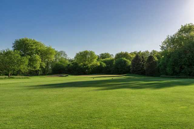 A view of the 1st green at Valley Course from Boone Creek Golf Club (Miranda Photography).