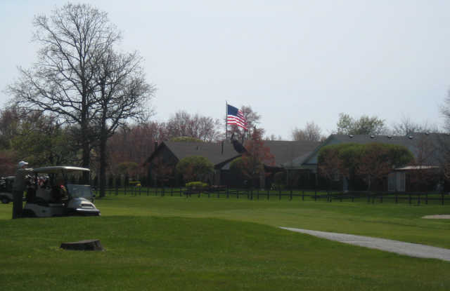 A view of a fairway at Saint Clair Shores Country Club.