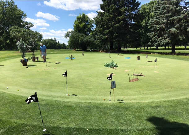 A view of the practice area at New Prague Golf Club.