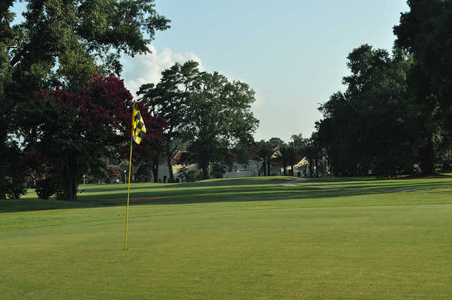 A view of a green at City Park Golf Course.