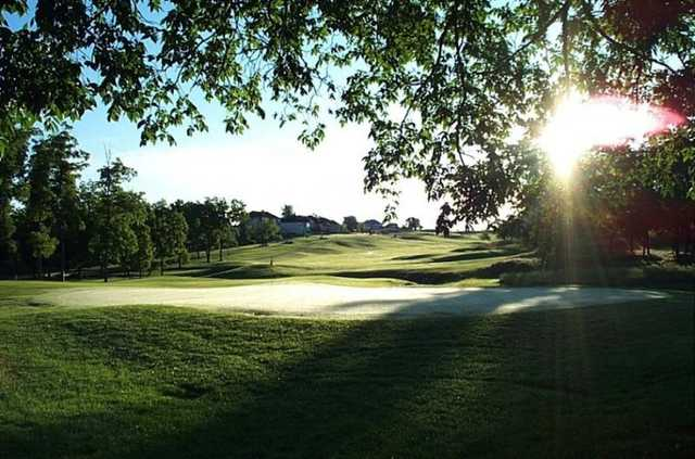 A view of hole #10 at Falcon Ridge Golf Course.