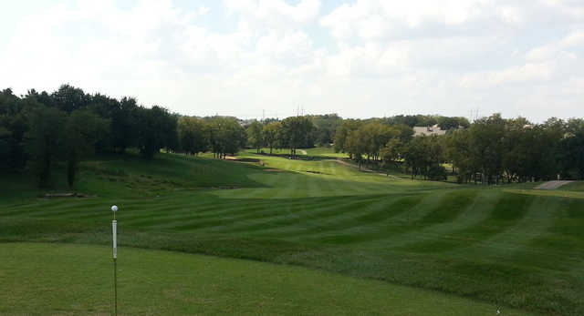 A view of a fairway at Falcon Ridge Golf Course.