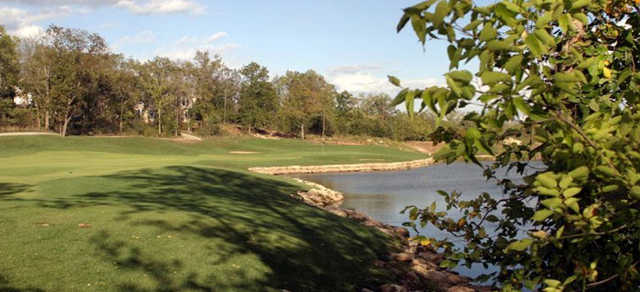 A view of the 1st hole at Falcon Valley Golf Course.