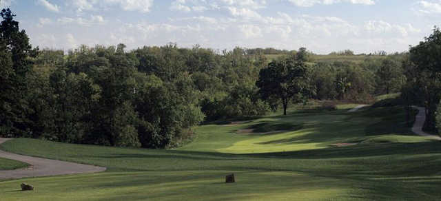 A view from the 3rd tee at Falcon Valley Golf Course.