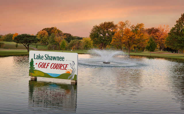 A fall day view from Lake Shawnee Golf Course.