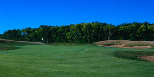 A view of a hole at Prairie Highlands Golf Course.