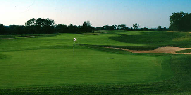 A view of a green at Prairie Highlands Golf Course.