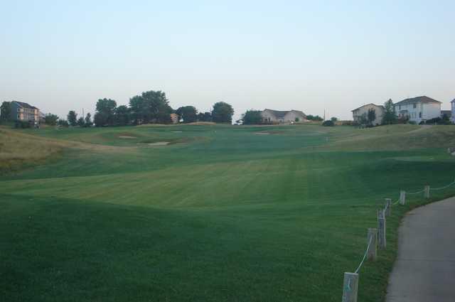 A view of a fairway at Tregaron Golf Course.