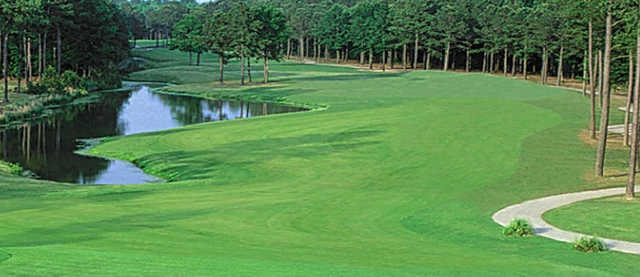 A view of a fairway at River Oaks Golf Club.