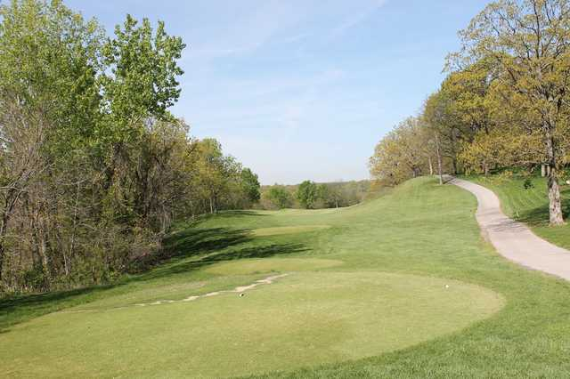 A view from a tee at Lakewood Oaks Country Club