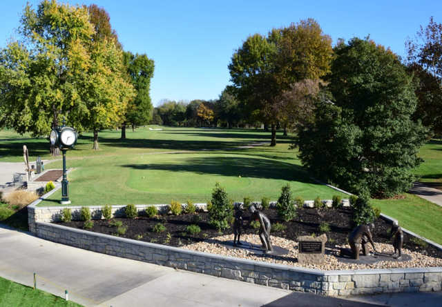 A view of tee #1 at Twin Oaks Country Club.
