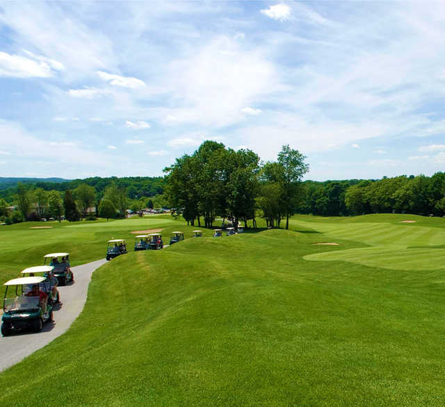 A sunny day view from Black Bear Golf Club.