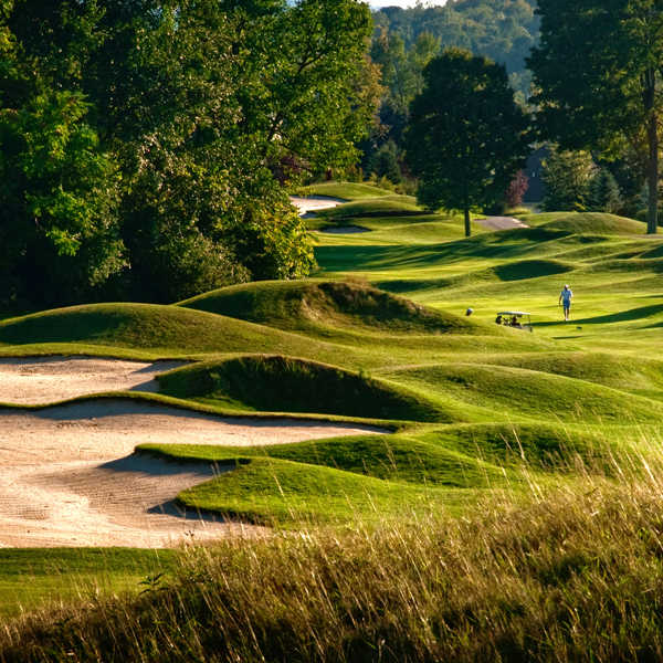 A view of fairway #8 at Crystal Springs Golf Club.