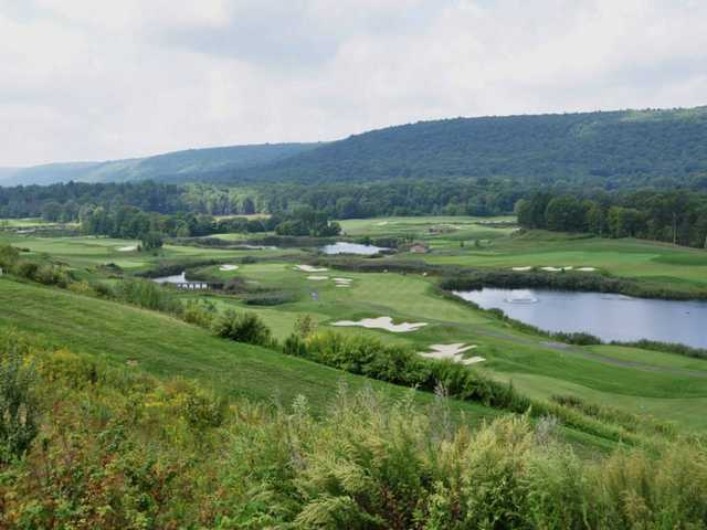 A view of the 17th hole at Berkshire Valley Golf Course.