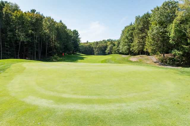 A sunny day view of a green at Crumpin-Fox Club.