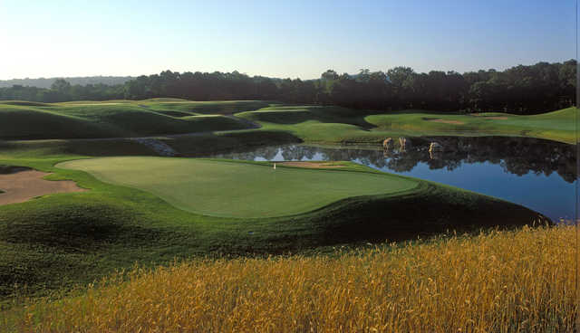 A view of the 8th green at Fox Hopyard Golf Club.