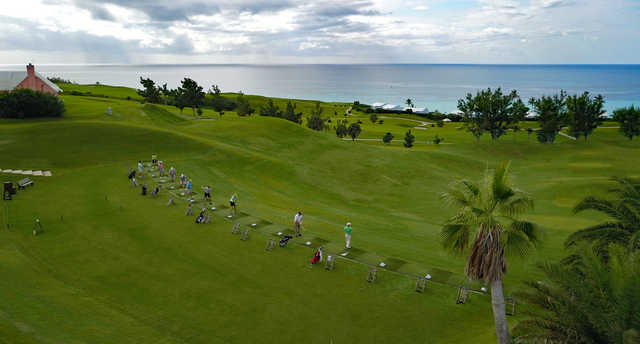 A view of the driving range at Port Royal Golf Course.