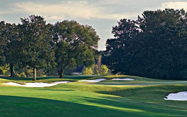 A view of the 7th hole at Marshwood from Highland Oaks Golf Course.