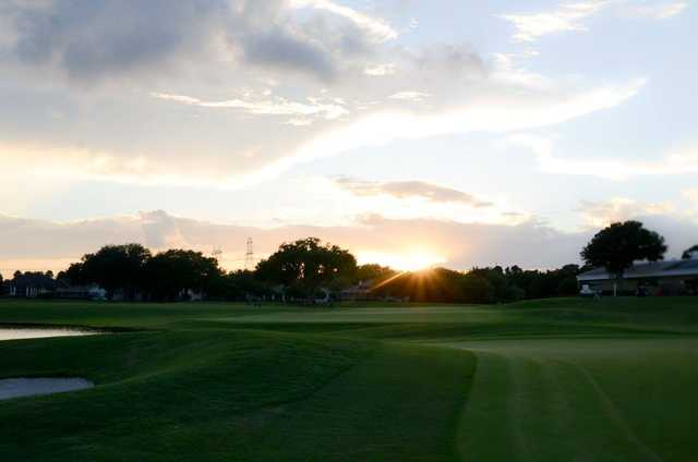 A sunset view from Fox Hollow Golf Club.