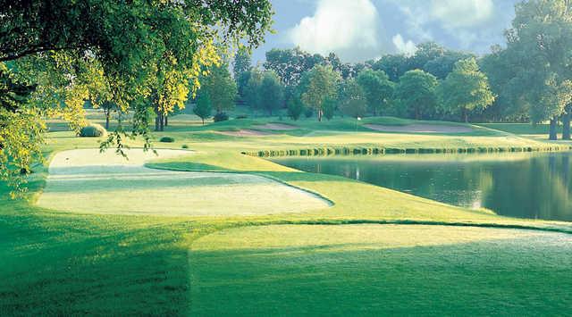 A view from a tee at Rail Golf Club.