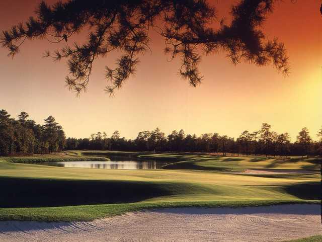 A view of hole #18 at Ballamor Golf Club.