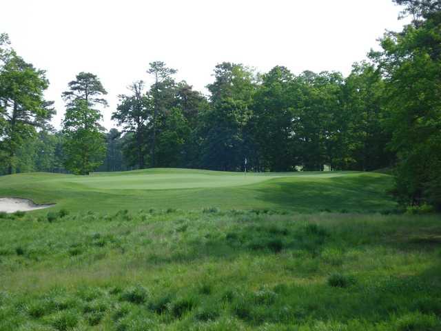 A view of the 12th green at Ballamor Golf Club.