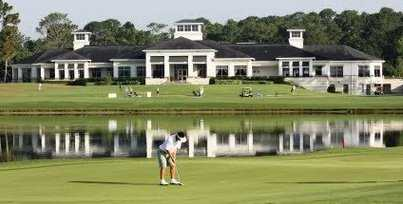 A view of the clubhouse at Deerwood Club