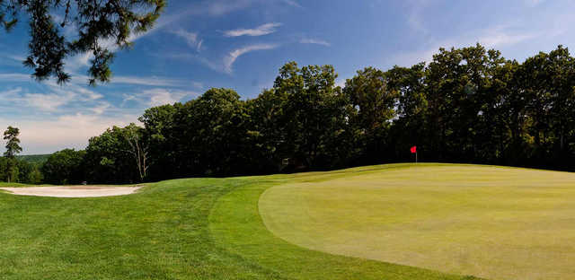 A view of a hole at Mount Airy Golf Club.