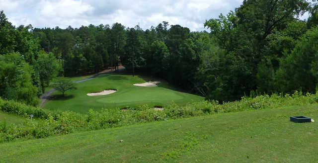 A view from a tee at Tega Cay Golf Club.
