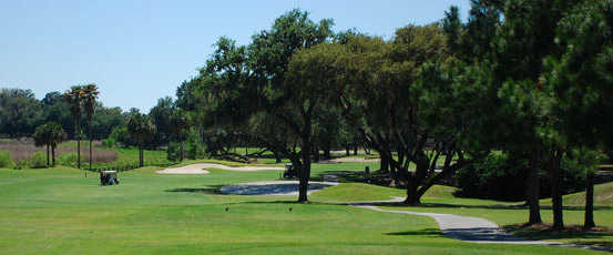 A view of a tee at Tierra Del Sol Golf & Country Club.
