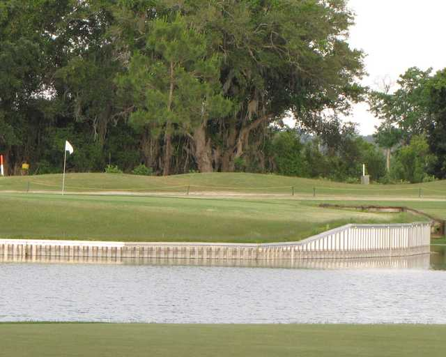 A view of a green at Green Valley Country Club.