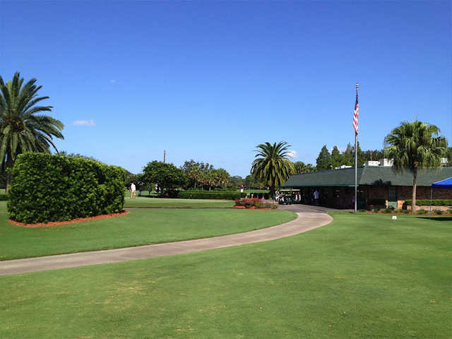 A view of the clubhouse at Winter Pines Golf Club.