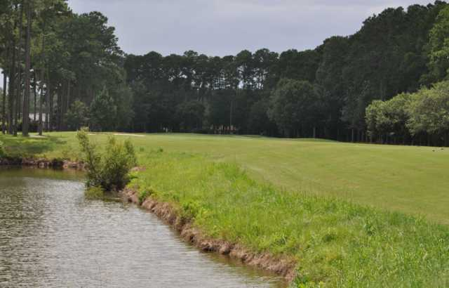 A view of the 14th fairway at Okatie Creek Golf Club.