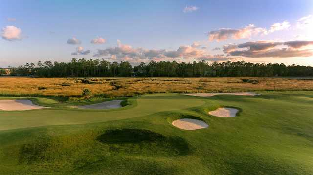 A view of a green from The Club at Osprey Cove.