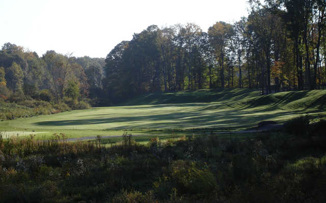 A view of a fairway at Pine Lakes Golf Club.