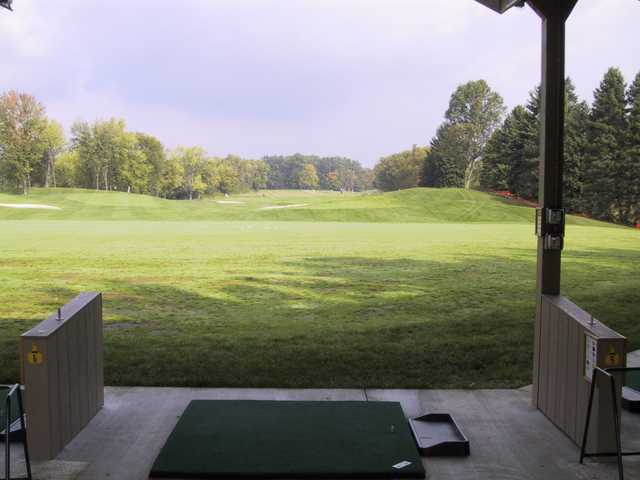 A view of the driving range at Pine Lakes Golf Club.