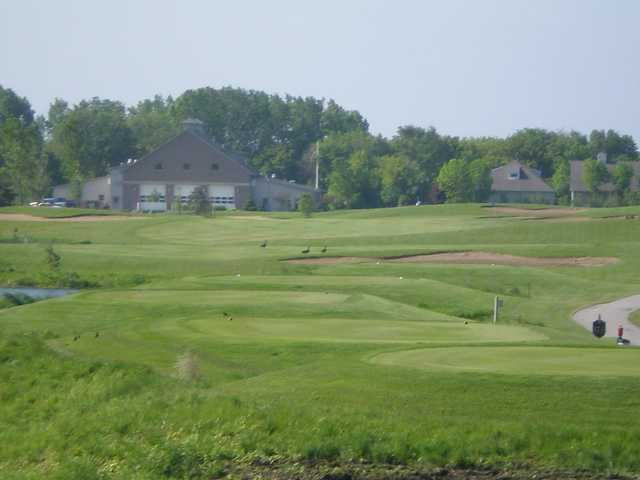 A view of tee #17 at Tanna Farms Golf Club.