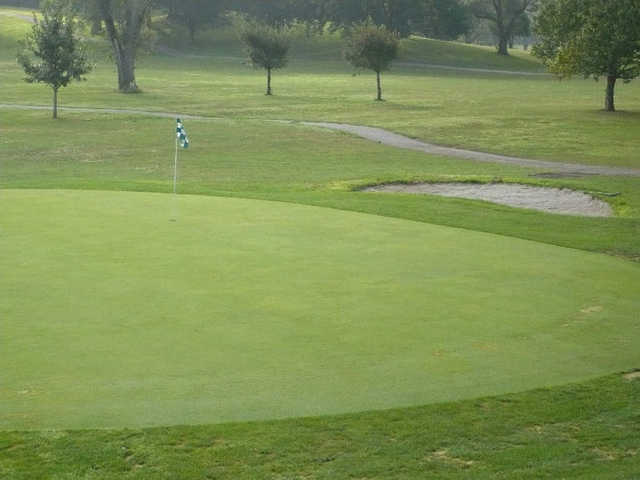 A view of a green at Grandview Golf Course