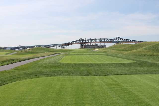 A view from the 2nd tee at Skyway Golf Course from Lincoln Park West.