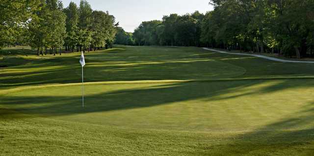 A view of the 5th green at Cider Ridge Golf Club.
