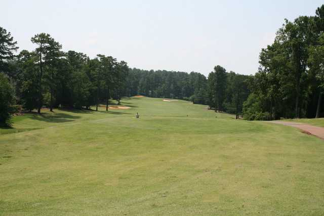 A view of a tee at Trophy Club of Apalachee.