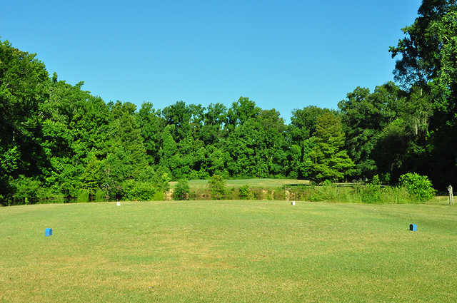 A view from a tee at Dumas Memorial Golf Course.