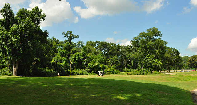 A view of a green at Dumas Memorial Golf Course.