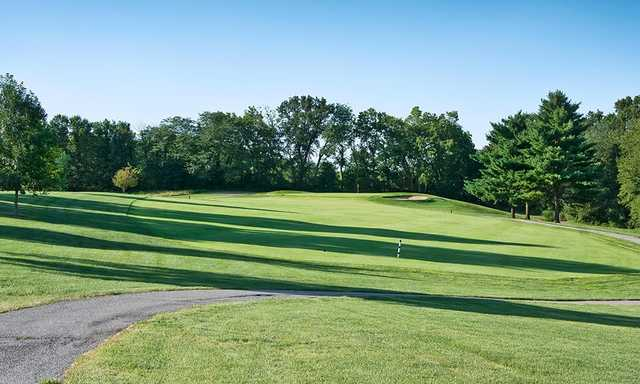 A view of a fairway at Hodge Park Golf Course.