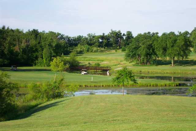 A view of hole #3 at Heritage Park Golf Course.