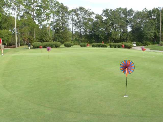 A view of the practice putting green at Bent Creek Golf Course