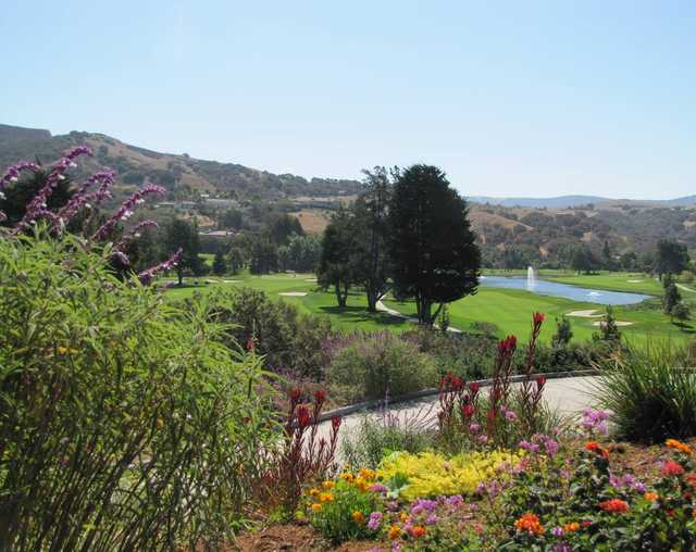 A sunny day view from Corral de Tierra Country Club.